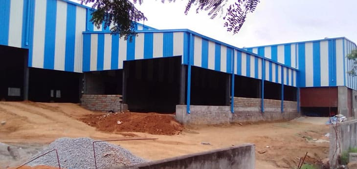 prefabricated factory shed in chennai